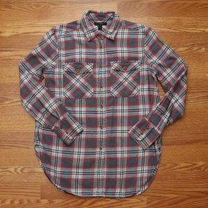 J. Crew Casual Light Flannel Button Down Shirt